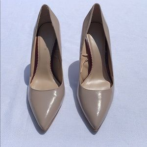 Zara Size 39 Nude 4 Inch Leather Heels